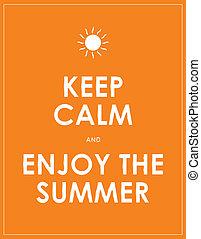 καλοκαίρι , μοντέρνος , motivational , διατηρώ , ατάραχα , φόντο , ειδικό