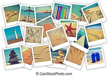 καλοκαίρι , στην παραλία , κολάζ