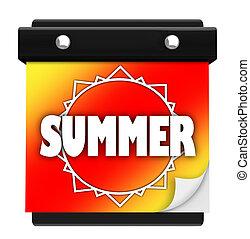 καλοκαίρι , τοίχοs , εποχή , αρχή , ήλιοs , ημερομηνία , καινούργιος , ημερολόγιο , σελίδα