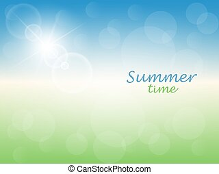 καλοκαίρι , φόντο , ώρα