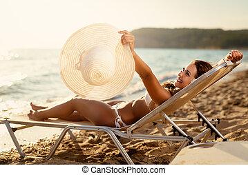 καλοκαίρι , χαλαρώνω