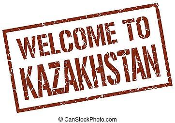 καλωσόρισμα , να , καζακστάν , γραμματόσημο