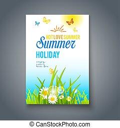 καλός , ημέρα , κάρτα , καλοκαίρι
