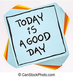 καλός , - , σημείωση , υπενθύμιση , ημέρα , σήμερα