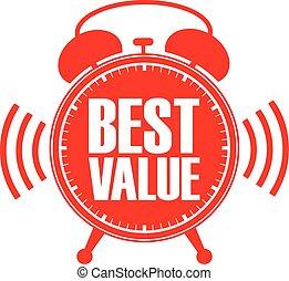 καλύτερος , ξυπνητήρι , αξία , μικροβιοφορέας , εικόνα , κόκκινο