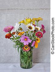 καμβάς , λουλούδια