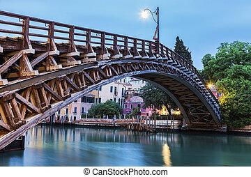 κανάλι , γέφυρα , βενετία , accademia , μεγαλειώδης