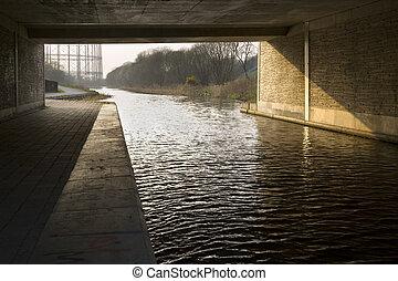 κανάλι , γέφυρα