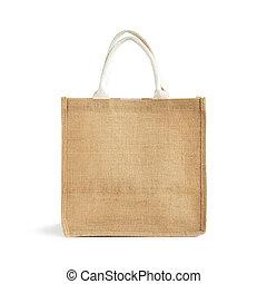 καναβάτσο , ή , γιούτα , τσάντα , - , reusable , καφέ ,...
