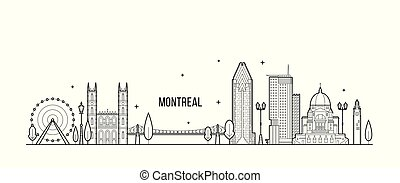καναδάs , μόντρεαλ , μικροβιοφορέας , γραμμή , ανέγερση άστυ , γραμμή ορίζοντα