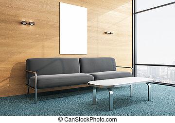 καναπέs , δωμάτιο , κενό , αφίσα , minimalistic , αναμονή