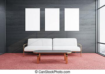 καναπέs , μοντέρνος δωμάτιο , αναμονή
