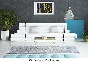 καναπέs , χαρτί , άνετος , δωμάτιο