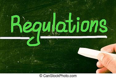 κανονισμοί , γενική ιδέα