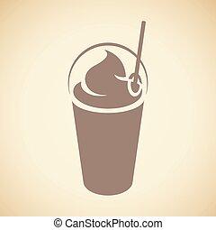 καπάκι , καφέ , frappuccino, άχυρο , απομονωμένος , εικόνα ,...