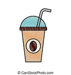 καπάκι , φλιτζάνι του καφέ , άχυρο , πίνω , θόλος ,...