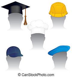 καπέλο , καλύπτω