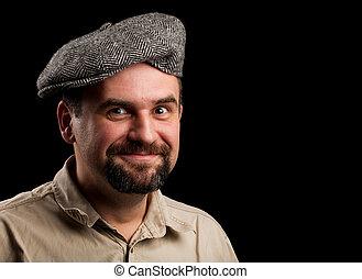 καπέλο , νέοs άντραs