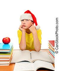 καπέλο , santa , μαθητής