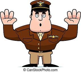 καπετάνιος , παραδίδομαι , γελοιογραφία