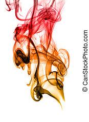 καπνός , αφαιρώ , άσπρο , καμπύλεs στο δρόμο