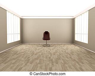 καρέκλα , άδειο δωμάτιο , γραφείο