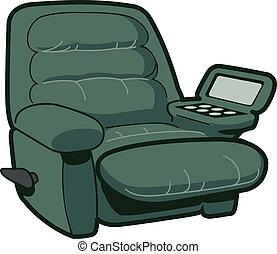 καρέκλα , ανακλίνομαι