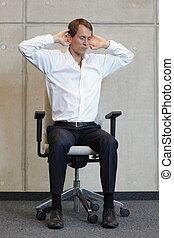 καρέκλα , αναστατώνω , αρμοδιότητα ανήρ