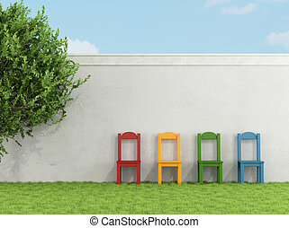 καρέκλα , γρασίδι , γραφικός