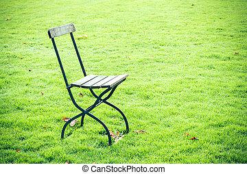 καρέκλα , επάνω , ένα , λιβάδι