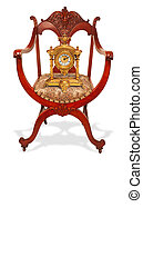 καρέκλα , και , ρολόι