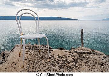 καρέκλα παραλίαs , κροατία , άσπρο , αδειάζω