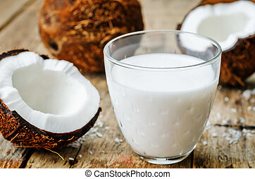 καρίδα , ινδική καρύδα , γάλα