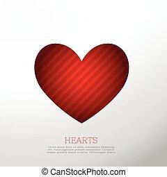καρδιά , άσπρο , απομονωμένος , φόντο , κόκκινο