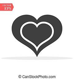 καρδιά , αγάπη , ανώνυμο ερωτικό γράμμα , eps10, σχεδιάζω , τέλειος , ιστός , ρυθμός , απομονωμένος , vector., άσπρο , logo., σκιά , διαμέρισμα , έμβλημα , σήμα , σύμβολο. , φόντο , ημέρα , εικόνα , γραφικός , s