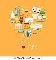 καρδιά , αγάπη , εικόνα , σήμα , σχήμα , ελλάδα