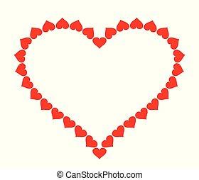 καρδιά , αγάπη , κορνίζα , σύμβολο. , ανώνυμο ερωτικό γράμμα , s , vector., αναχωρώ. , ημέρα , εικόνα
