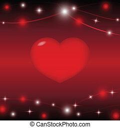 καρδιά , αστέρι , αριστερός φόντο , ελαφρείς