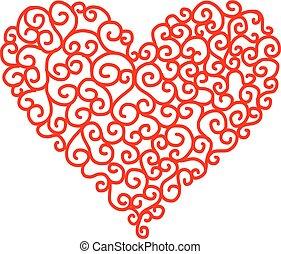 καρδιά , αφαιρώ διάταξη , σχήμα , δικό σου