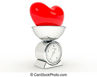 καρδιά , γίγαντας , κλίμακα , κουζίνα