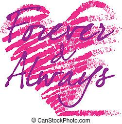 καρδιά , για πάντα , always, grungy
