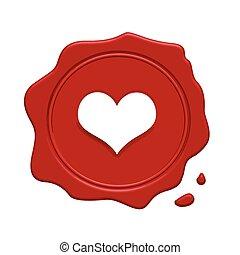 καρδιά , γραμματόσημο , αυξάνομαι , εσωτερικός , κόκκινο