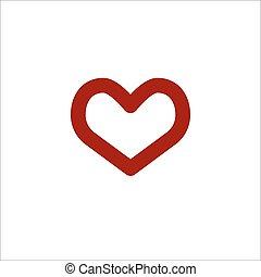 καρδιά , γραμμικός , μικροβιοφορέας , έγχρωμος , εικόνα
