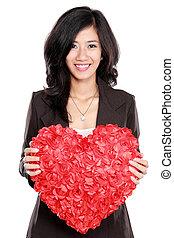 καρδιά , γυναίκα αρμοδιότητα , κόκκινο