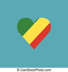 καρδιά , διαμέρισμα , σημαία , σχήμα , κογκό , δημοκρατία , σχεδιάζω , εικόνα