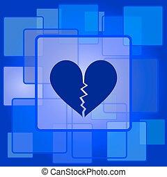καρδιά , εικόνα , σπασμένος