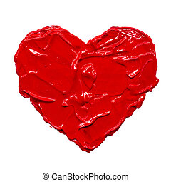 καρδιά , εικόνα , χέρι , gouache , μετοχή του draw ,...