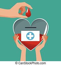 καρδιά , εκστρατεία , γυαλί , αίμα , αμπάρι ανάμιξη , δωρίζω