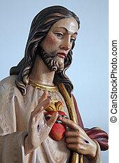 καρδιά, ιερός, ιησούς