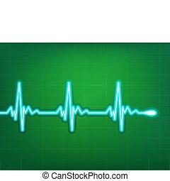 καρδιά , καρδιογράφημα , eps , βαθύς , αυτό , 8 , σκιά ,...